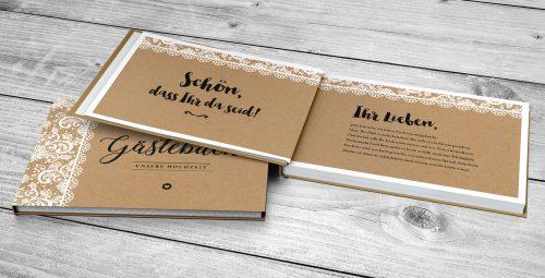 Gästebuch Vintage Spitzen